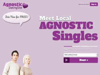 Agnostic Dating Site Homepage Image