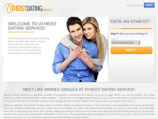 Atheist Dating Service Homepage Image